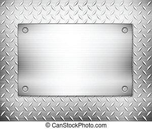 Diamanten-Metall Hintergrund und Teller