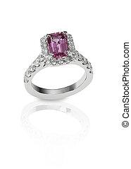 Diamanten-Verkäufer-Hochzeitsring.