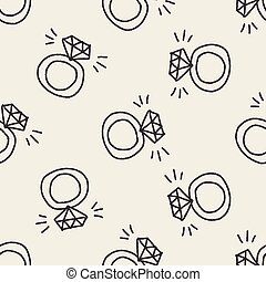Diamond Ring Doodle Zeichnung.