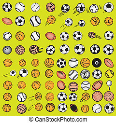 Die Ballsport-Ikonen sind Comics