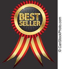 Die beste Verkäuferin mit goldenem Ribo