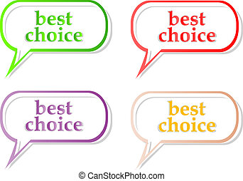 Die besten Etiketten der Wahl