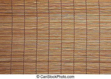 Die Bodenbeschaffenheit des Bambus-Platzmats schließt sich