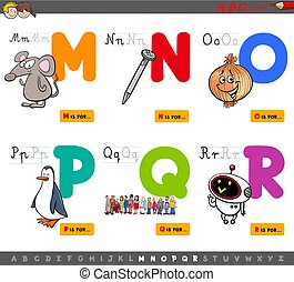 Die Buchstaben des Alphabets.