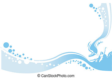 Die Dame im Wasser illustriert