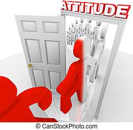 Die Einstellung verändert die Menschen zu Erfolg und Erfolg