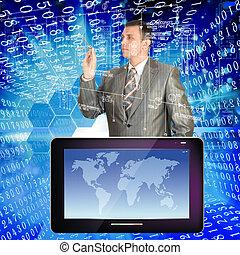 Die Entwicklung der neuesten Telekommunikation und des Internets von Technologien wird in Zukunft durch zahlreiche Möglichkeiten für die Menschheit eröffnet
