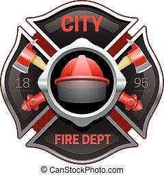 Die Feuerwehr symbolisiert realistische Bilder.