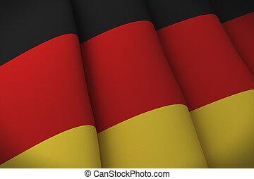 Die Flagge der Deutschen
