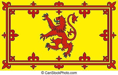Die Flagge von Schottland