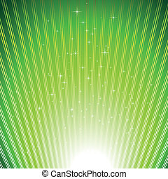 Die funkelnden Sterne auf grünem Licht brechen den Hintergrund