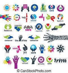 Die größte Sammlung von Vektor-Icons Hände.