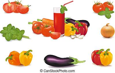 Die große bunte Gemüsegruppe