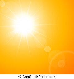 Die heiße Sommersonne