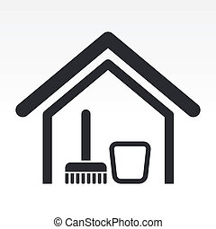 Die Illustration eines einzelnen sauberen Hauses