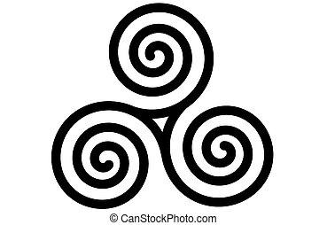 Die keltische Dreifachspirale oder Triskele