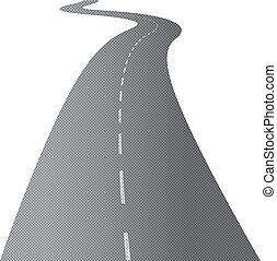 Die lange und windende Straße
