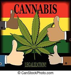 Die Legalisierung von Cannabis.