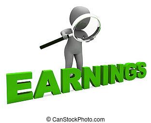 Die Leistungen zeigen, dass sie Einnahmen und profitable Einkommen erzielen