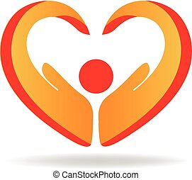 Die Leute lieben das Herzlogo.