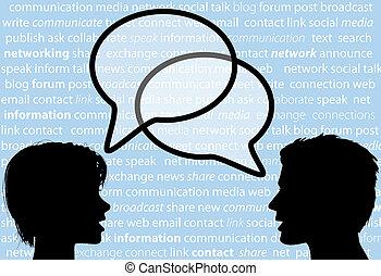 Die Leute reden über Redebläschen für das soziale Netzwerk