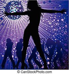 Die Leute tanzen im Nachtclub