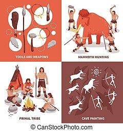 Die Menschen des Stammes verstehen Symbole.