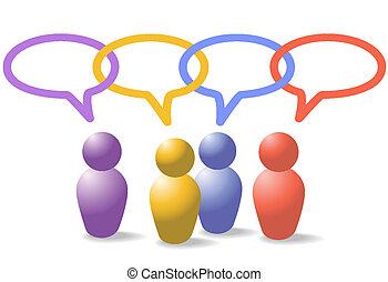 Die Menschen in den sozialen Medien symbolisieren die Netzwerkkette