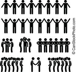 Die Menschen vereinten sich