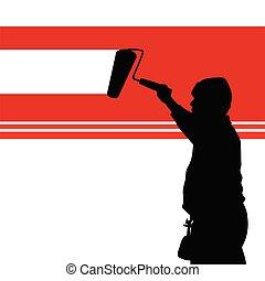 Die rote Wand illustriert