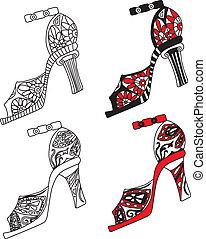 Die Schuhe haben Vektor illustriert