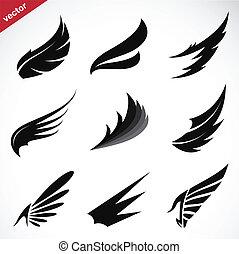 Die schwarzen Flügel-Icons sind eingestellt.
