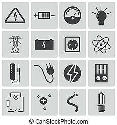 Die schwarzen Strom-Icons sind eingestellt.