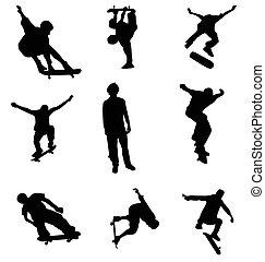 Die Skater-Silhouette-Sammlung