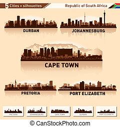 Die Skyline der Stadt ist südlich von Afrika