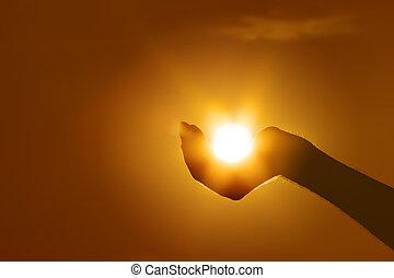 Die Sonne auf der Hand