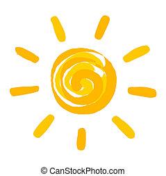 Die Sonne malte Illustration