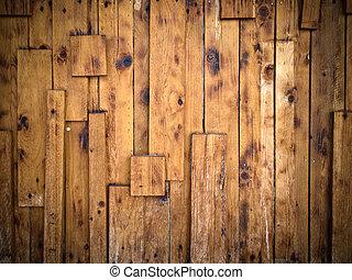 Die Struktur der alten Holzmauer