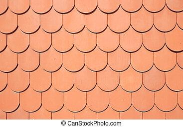 Die Struktur von braunem Dach.