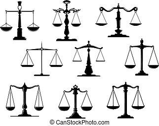 Die Symbole des Schwarzen Gesetzes.