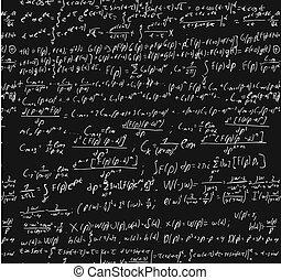Die Tafel mit einer Berechnung.