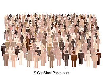 Die unterschiedliche Bevölkerung von Symbolen bildet eine große Gruppe