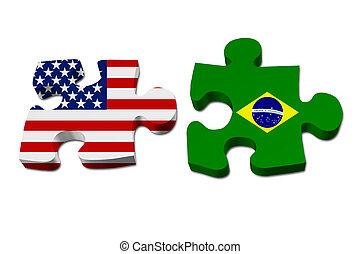 Die USA arbeiten mit Brasilien.