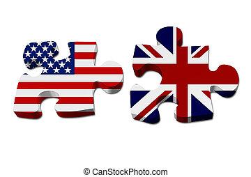 Die USA arbeiten mit England.