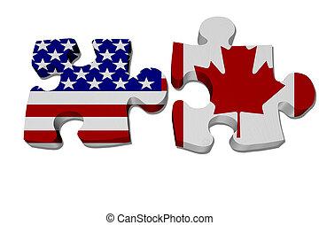 Die USA arbeiten mit Kanada