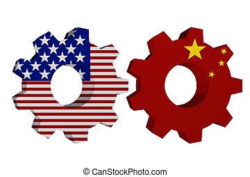 Die USA arbeiten mit Porzellan.