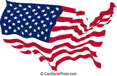 Die Vereinigten Staaten formten Flagge