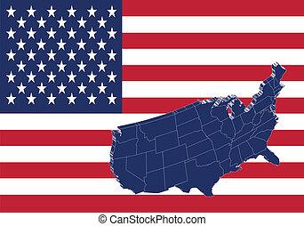 Die Vereinigten Staaten von Amerika zeichnen &flagge