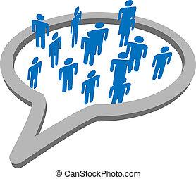 Die Volksgruppe spricht von sozialer Mediensprache