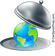 Die Welt auf einem Teller